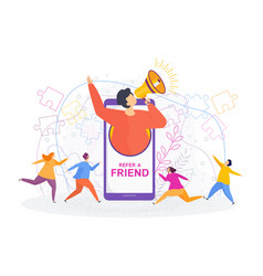 Refer a friend concept invitation referral vector