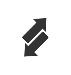 reverse arrow sign icon in flat style refresh on vector image