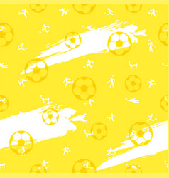 Seamless pattern background for soccer or vector