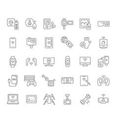 Set line icons modern gadgets vector