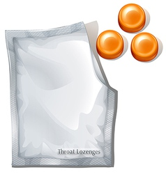 Throat lozenges vector