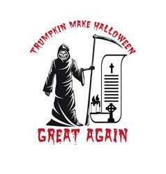 Trumpkin make halloween t-shirt design vector