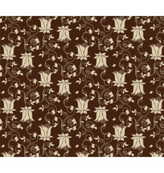 Tulips flowers texture pattern vector image