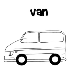 Van car vector