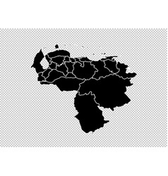 Venezuela map - high detailed black map with vector
