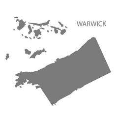 Warwick bermuda map grey vector