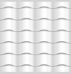 White seamless wavy pattern paper texture vector image
