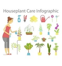 Window gardening ifographic elements vector image