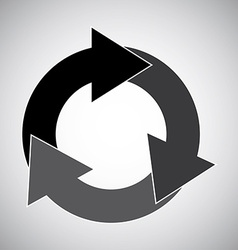 arrows circle vector image