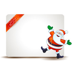 Christmas panel with funny santa claus vector
