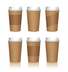 coffee cup templates vector image vector image