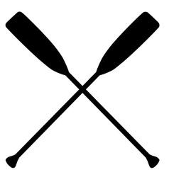 Crossed oars vector