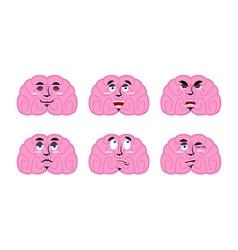 Emotions brain Set emoji avatar brains Good and vector image vector image