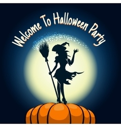 Halloween Party Invitation Poster vector image
