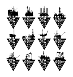 Icons oil industry-1 vector image vector image