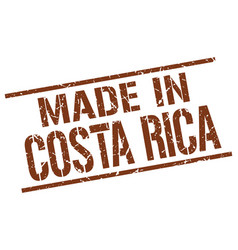 made in costa rica stamp vector image vector image