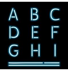 Neon Light Alphabet 1 vector image vector image