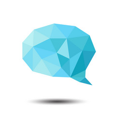 polygon bubble icon on white background vector image