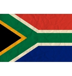 South Africa paper flag vector image