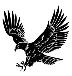 eagle silhouette 005 vector image vector image