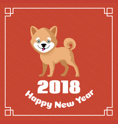 happy chinese new year 2018 greeting vector image