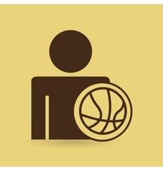 man baskette ball design icon vector image