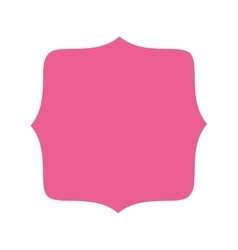 pink badge icon vector image vector image
