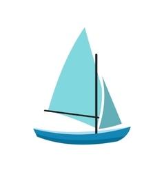 Ship yachts icon vector