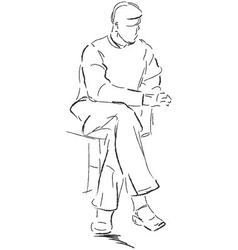Sitting man vector image vector image
