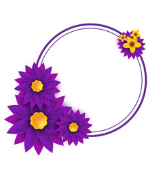 the frame with the flowers vector image vector image