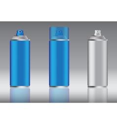 Blue spray can vector