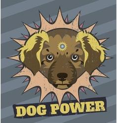 Dog power vector image