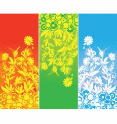 banner three color vector image vector image
