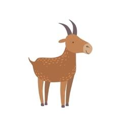 Brown Goat Standing vector image vector image