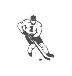 ice hockey player vector image
