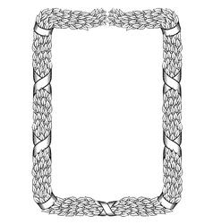 laurels square wreath tied ribbon black frame vector image