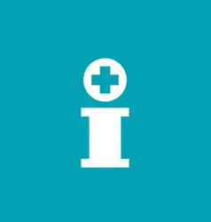 letter i cross plus logo icon design template vector image vector image