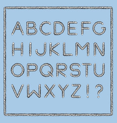 Nautical rope font vector