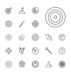 22 target icons vector