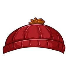A red bonnet vector