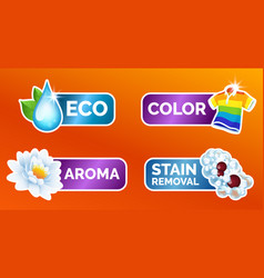 A set stickers for all washing clothes vector