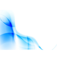 Abstract blue wavy lines vibrant background vector image