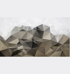 Abstract irregular polygon background beige white vector
