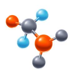 abstract molecule or atom vector image