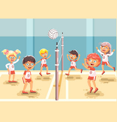Back to sport school children vector