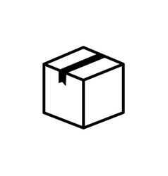 box icon black vector image