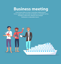 business meeting and ship vector image