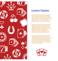 casino poker banner template design vector image