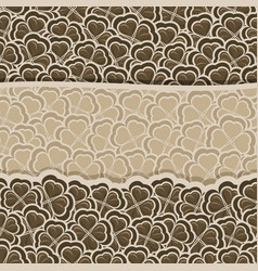 Chocolate clover pattern vector