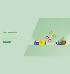 Cost reduction campaign concept for website vector
